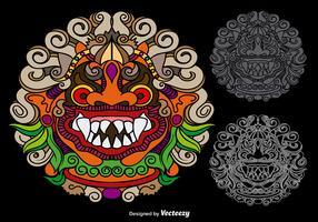 Vector Colorful Mythological Barong