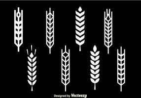 Wheat Stalk White Icons