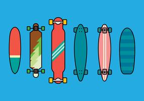 Longboard Vector Set 2