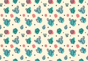 Free Cacti Pattern Vector