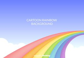 Free Cartoon Rainbow Vector Background