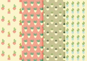 Vector Cacti Patterns