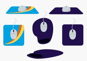 Mouse Pad Vector Set