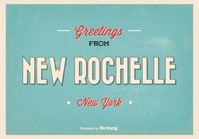 New Rochelle New York Greeting Illustration