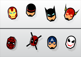 Free Superhero Fridge Magnet Vector