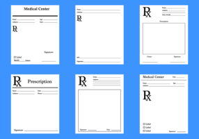 Free Prescription Pad Vector
