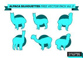 Alpaca Silhouette Free Vector Pack Vol. 2