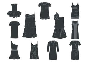 Free Women Dresses Silhouettes Vector