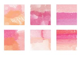 Vector Watercolor Paint Streak Elements