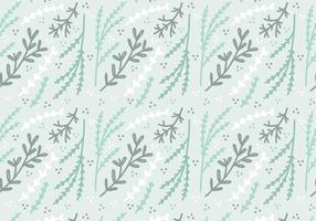 Mint Colored Plant Vector Pattern