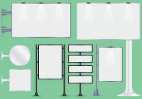 Blank Hoarding Billboard Vectors