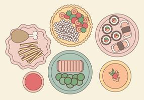 Vector Plated Food Illustration