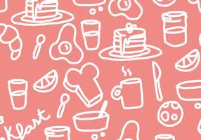 Pancake Breakfast Pattern Vector