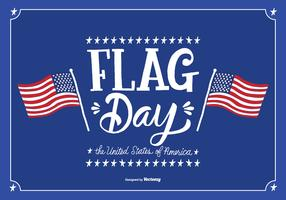 June Flag Day Vector Illustration