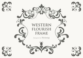Free Vector Western Flourish Frame