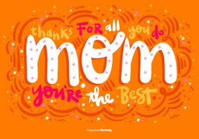 Mother's Day Bubble Lettering Vector