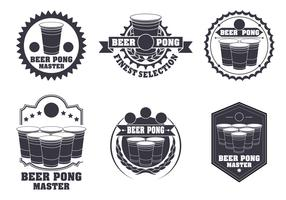 Beer Pong Label Vector Set
