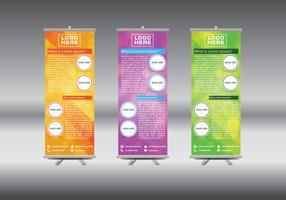 Roll Up Banner Abstract Geometric Colourful Design