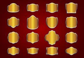 Free Gold Vintage Labels Vector
