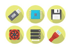 Free Flat Computer Vector Icons