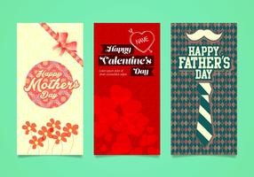 Celebration Days Card Vectors