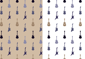 Free Guitar Pattern Vector
