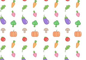Free Vegetable Pattern Vector