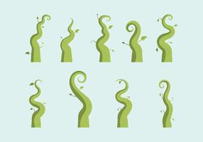 Free Beanstalk Vector Illustration