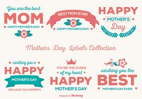 Cute Mother's Day Vector Labels