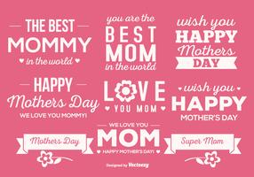 Cute Mother's Day Label Set