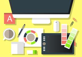 Free Modern Office Vector Desktop Workspace
