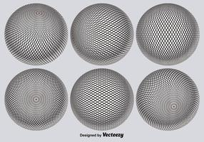 Vector 3D Globe Grid Set