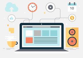 Free Vector Desktop Workplace
