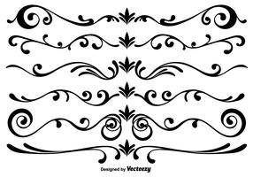 Vector Scrollwork Elements
