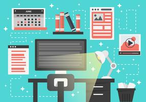 Free Modern Work Place Vector