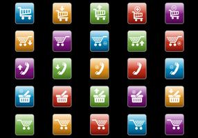 Free Web Buttons Set 09 Vector