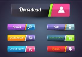 Free Web Button Bar Vectors
