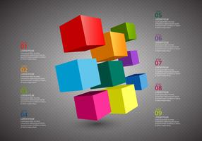 Free Cube Infographics Vector