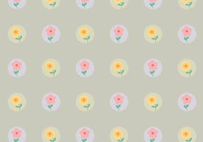 Vintage Dotted Flower Pattern