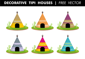 Decorative Tipi Houses Free Vector