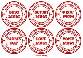 Mother's Day Vector Stamps