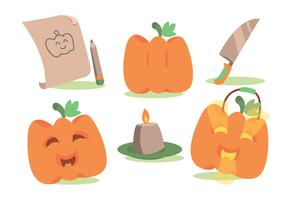 Fun Pumpkin Patch Vector Set