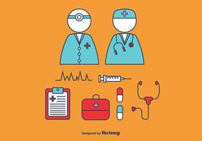 Doctor and Nurse Vector Set