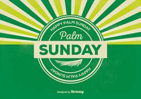 Retro Palm Sunday Illustration