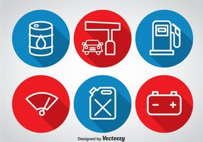 Gas Pump Circle Icons