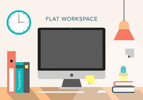 Free Vector Workspace