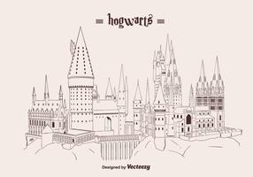Hand Drawn Hogwarts Vector