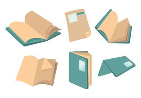 Book Page Flip Vector Set