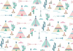 Teepee Pattern vector