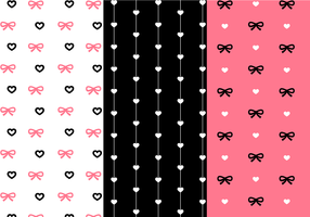 Free Love Pattern Vector